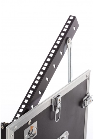 Upper rack bar with height adjustment