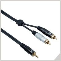 Cavi interlink - jack stereo Ø 3,5 mm - 2 x RCA