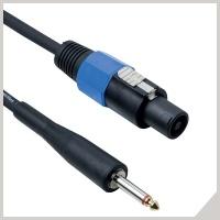 Passive speaker cables - Ø 6,3 mm jack - speaker (2 poles)