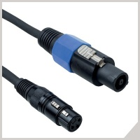 Passive speaker cables - cannon female - speaker (2 poles)