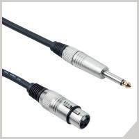 Cavi per microfoni - cannon femmina - jack Ø 6,3 mm