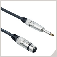 Microphone cables - cannon female - Ø 6,3 mm jack
