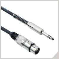 Cavi per microfoni - cannon femmina - jack Ø 6,3 mm TRS