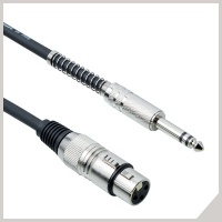 Microphone cables - cannon female - Ø 6,3 mm jack TRS