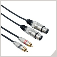 Interlink cables - 2 x RCA - 2 x cannon female