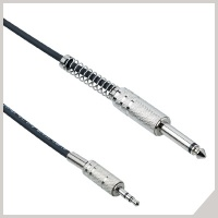 Cables for electronic devices - Ø 3,5 mm jack TRS - Ø 6,3 mm jack
