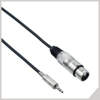 Cables for electronic devices - Ø 3,5 mm jack TRS - cannon female