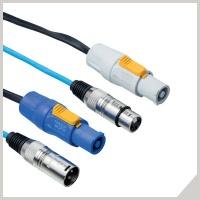 Audio+power cables - cannon male/POWERCON®- cannon female/POWERCON®