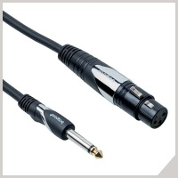 Microphone cables - Ø 6,3 mm jack - cannon female