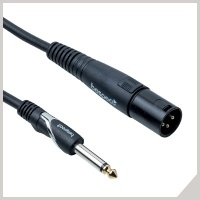 Active loudspeaker cables - Ø 6,3 mm jack - cannon male