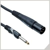 Cavi per speaker attivo - jack Ø 6,3 mm - cannon maschio