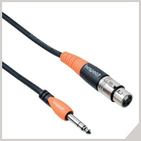 Microphone cables - Ø 6,3 mm jack TRS - cannon female