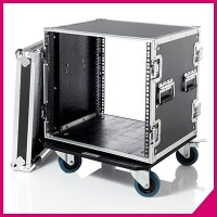 "Flight cases 19"" Professional series with wheels"