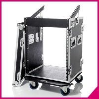 "Flight cases 19"" Professional series with mixer holder and wheels"