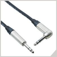 Instrument cables - Ø 6,3 mm jack TRS - Ø 6,3 mm jack 90° TRS