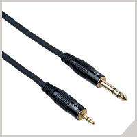 Cavi per dispositivi elettronici - jack Ø 3,5 mm stereo - jack Ø 6,3 mm stereo